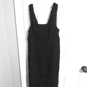 Adriana Papell Little Black Lace Dress size 8